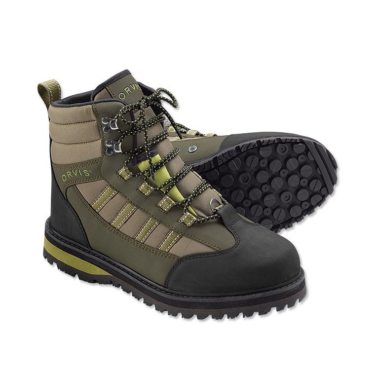 Orvis boot encounter rubber sole waders boots for for Fishing waders with boots