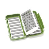 C&F Design Large 16-Row Waterproof Fly Case with Flip Page Olive