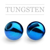 Slotted Tungsten Beads Metallic Blue