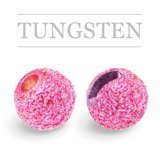Slotted Tungsten Beads Sunny Metallic Pink