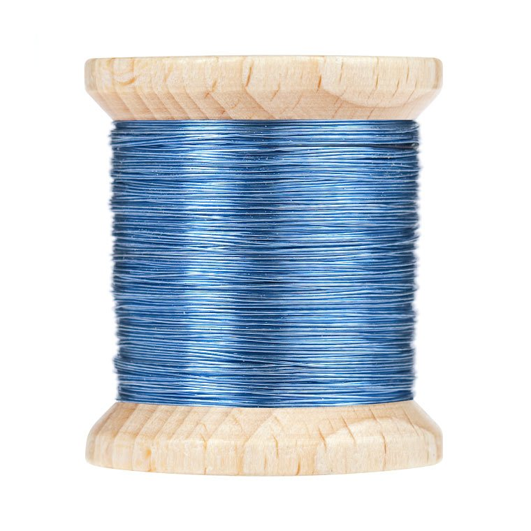 BG Color Wire 0,2 mm Blue | Fly Tying Materials \ Tinsels ...