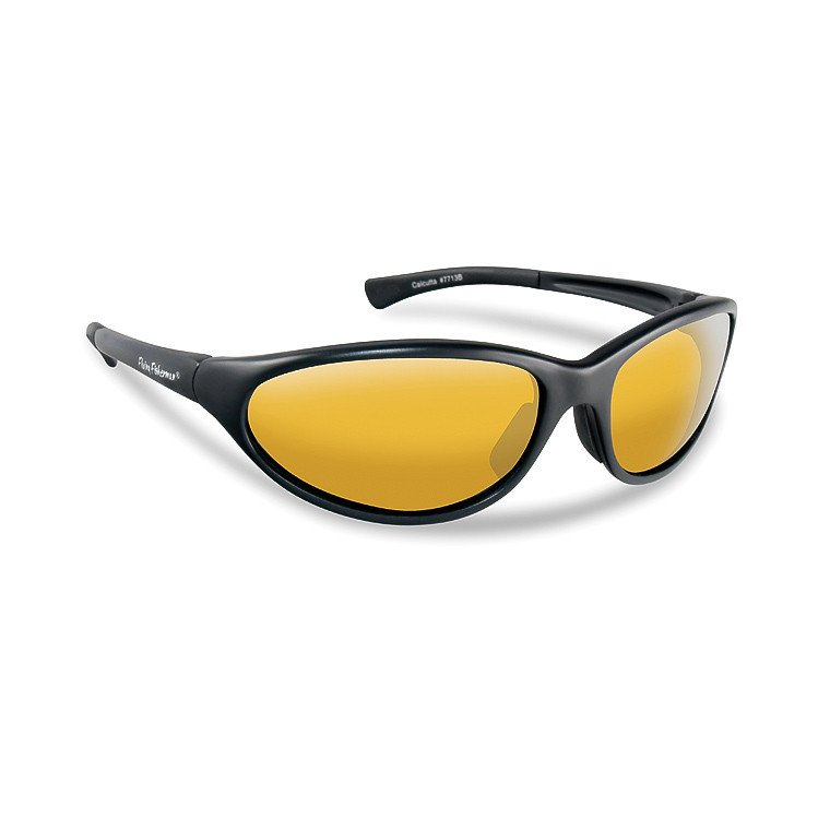 616c04420fcb Flying Fisherman Sunglasses Calcutta Matte Black - Yellow Amber ...