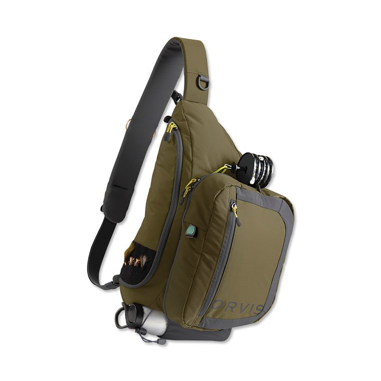 Orvis safe passage guide sling pack olive accessories for Fly fishing sling pack