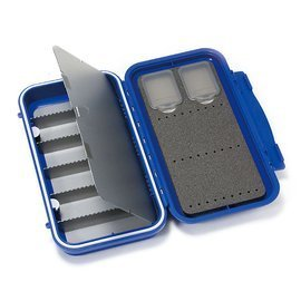 C&F Design Large 3-Row Waterproof Tube Fly Case with 6 Compartments Blue