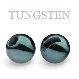 Slotted Tungsten Beads Metallic Steel