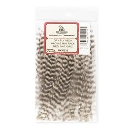 small natural grizzly     NKS232 mini pack Dry Fly Neck Hackle